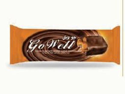 Bild von COV-B-1105 Go Well Kakaonougat mit schokoladenüberzogenem Karamell
