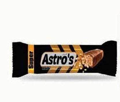 Picture of COV-B-1102 Astor's  crisped rice with caramel and peanut coated chocolate