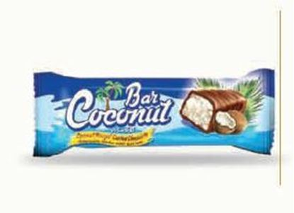 Picture of COV-B-1096 Coconut Bar   coconut bar coated chocolate