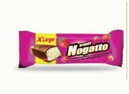 Bild von COV-B-1099 Nogatto - Nougat mit Erdbeerfrucht überzogener Schokolade