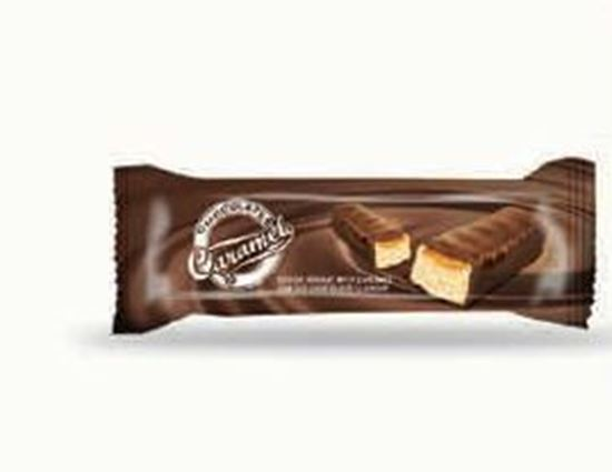 Picture of COV-B-1082 Caramelo - Cocoa nougat with caramel  flavor coated chocolate
