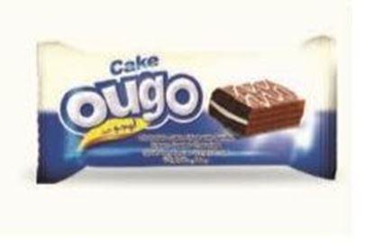 Bild von COV-C-1111- Ougo-Schokoladenkuchen mit Vanillecreme überzogener Schokolade