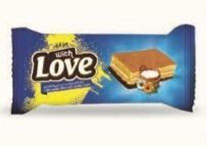 Bild von COV-C-2001- With Love - Kuchen Vanille gefüllt mit Vanillecreme