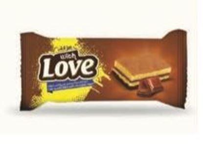 Bild von COV-C-2002- With Love - Kuchen Vanille mit Schokoladencreme gefüllt