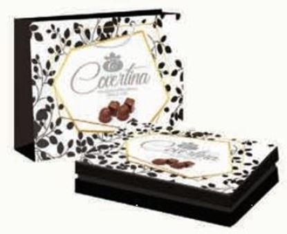 Bild von COV-K-160 Covertina Geschenkbox - Verschiedene Schokoladen (weiß, dunkel, Milch, Haselnuss)