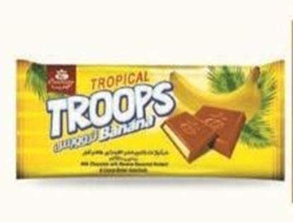 Picture of COV-T-1001- Troops Banana- Milk chocolate with banana flavoured fondant